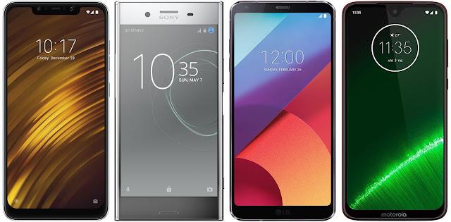Xiaomi Pocophone F1 128G vs Sony Xperia XZ Premium vs LG G6 vs Motorola Moto G7 Plus