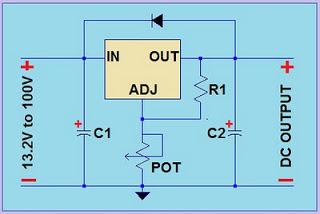 circuit of high voltage variable voltage regulator  schematic diagram