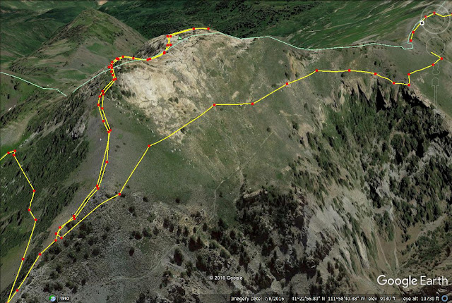Hiking to Willard Peak & Ben Lomond Peak trail map