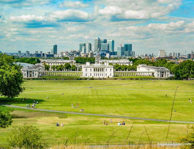 Londres vista do morro do Observatório de Greenwich