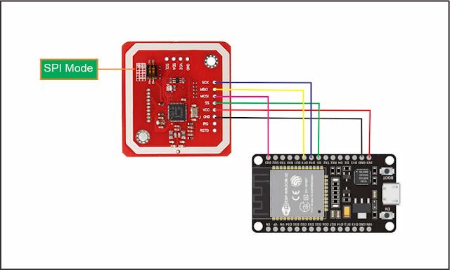 ESP32 Akses NFC Modul PN532