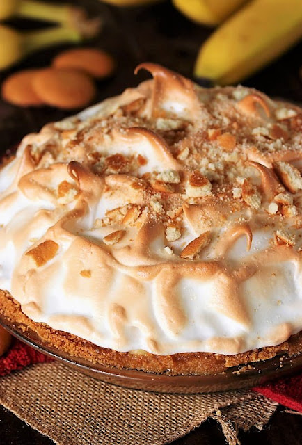 Meringue Topping on Banana Pudding Pie Image
