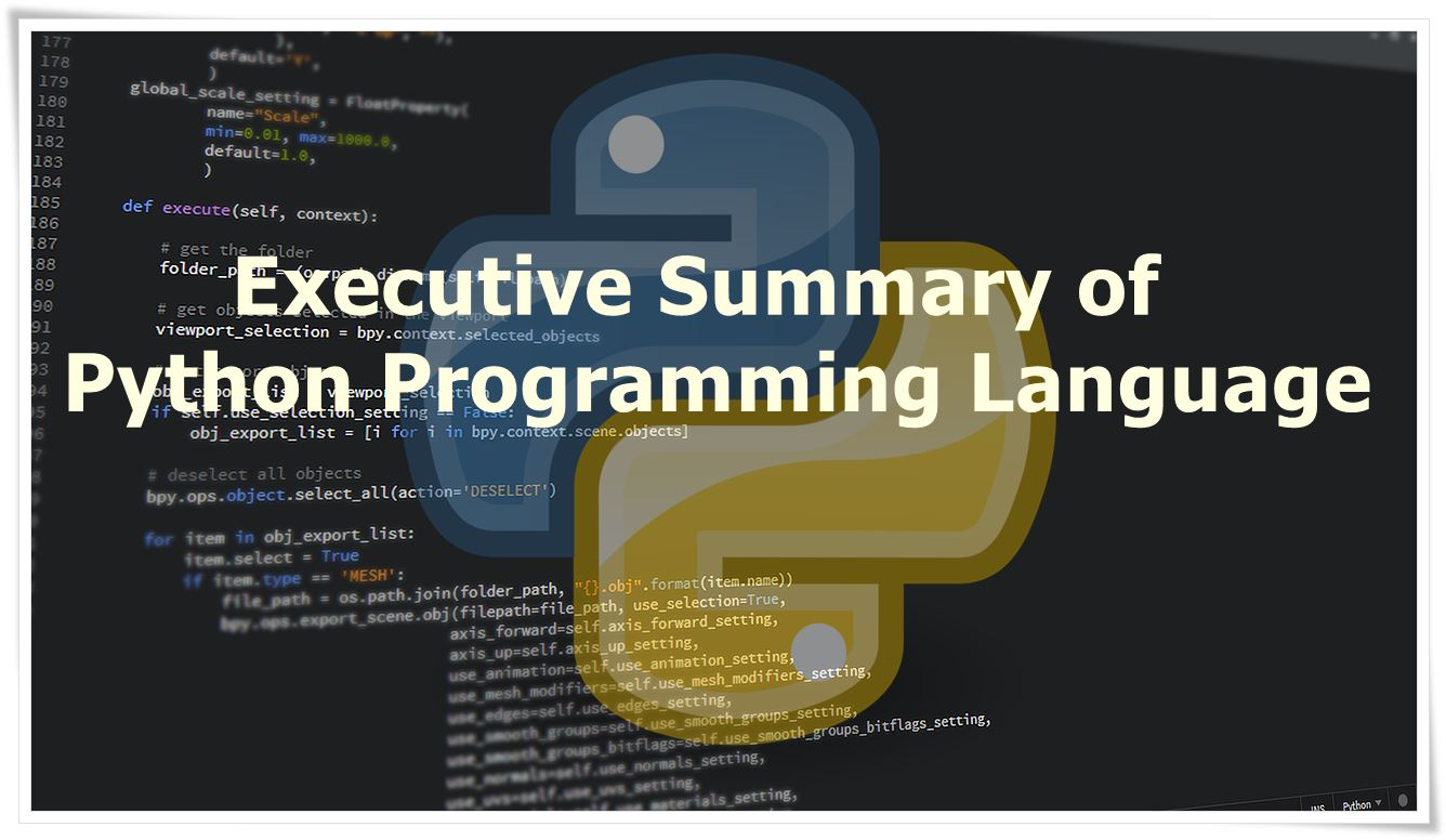 Summary of Python Programming Language