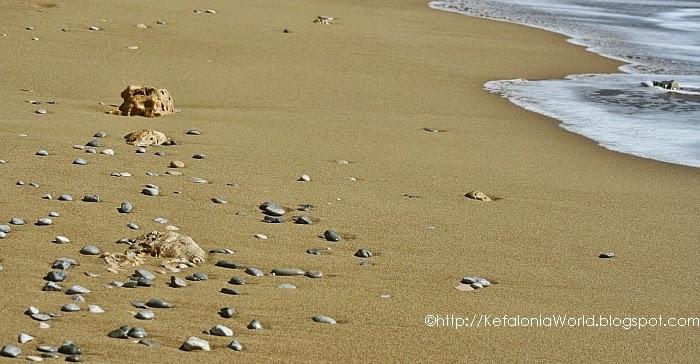 sandy beach kefalonia
