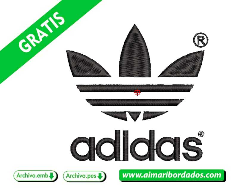 Logo ADIDAS trebol para bordar Descargar Gratis