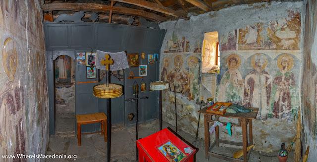 Fresco Painting - Holy Salvation church, Chebren Monastery, Mariovo, Macedonia