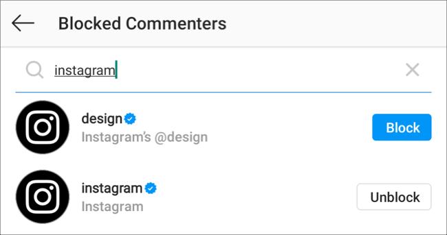 منع المستخدم من التعليق على منشورات Instagram الخاصة بك