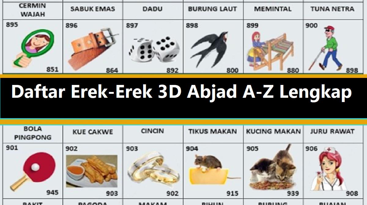 Erek-Erek 3D Abjad