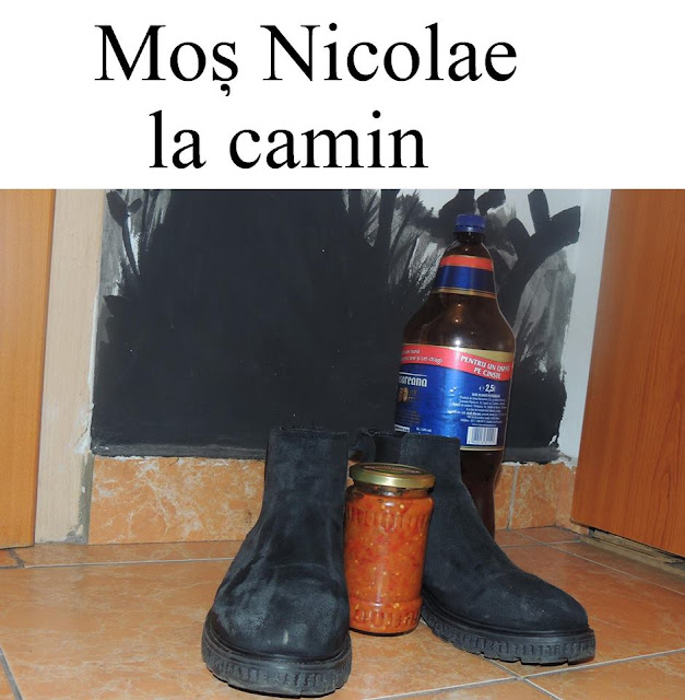 Mos Nicolae la camin