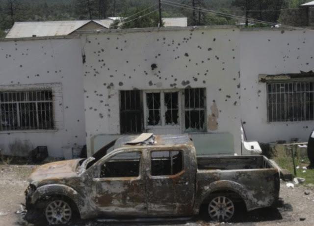 """El éxodo llega a Madera, Chihuahua un refugio de narcos  """"Eran como las 5 de la mañana y los plomazos se oían allá arriba en el pantéon, duró varias horas"""