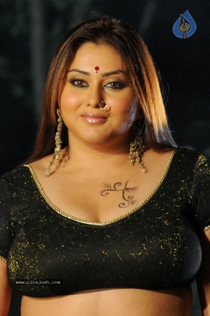 Namitha Big Boobs In Black Dress, South Indian Actress -9356