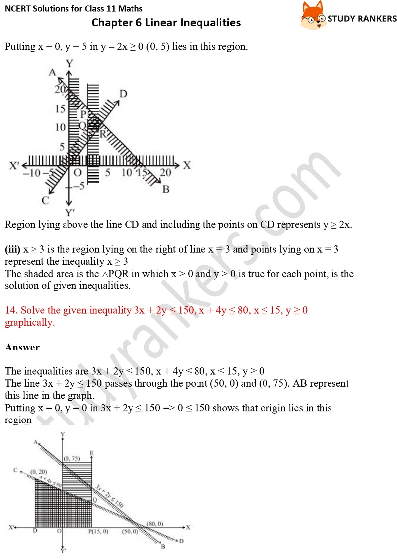 NCERT Solutions for Class 11 Maths Chapter 6 Linear Inequalities 28