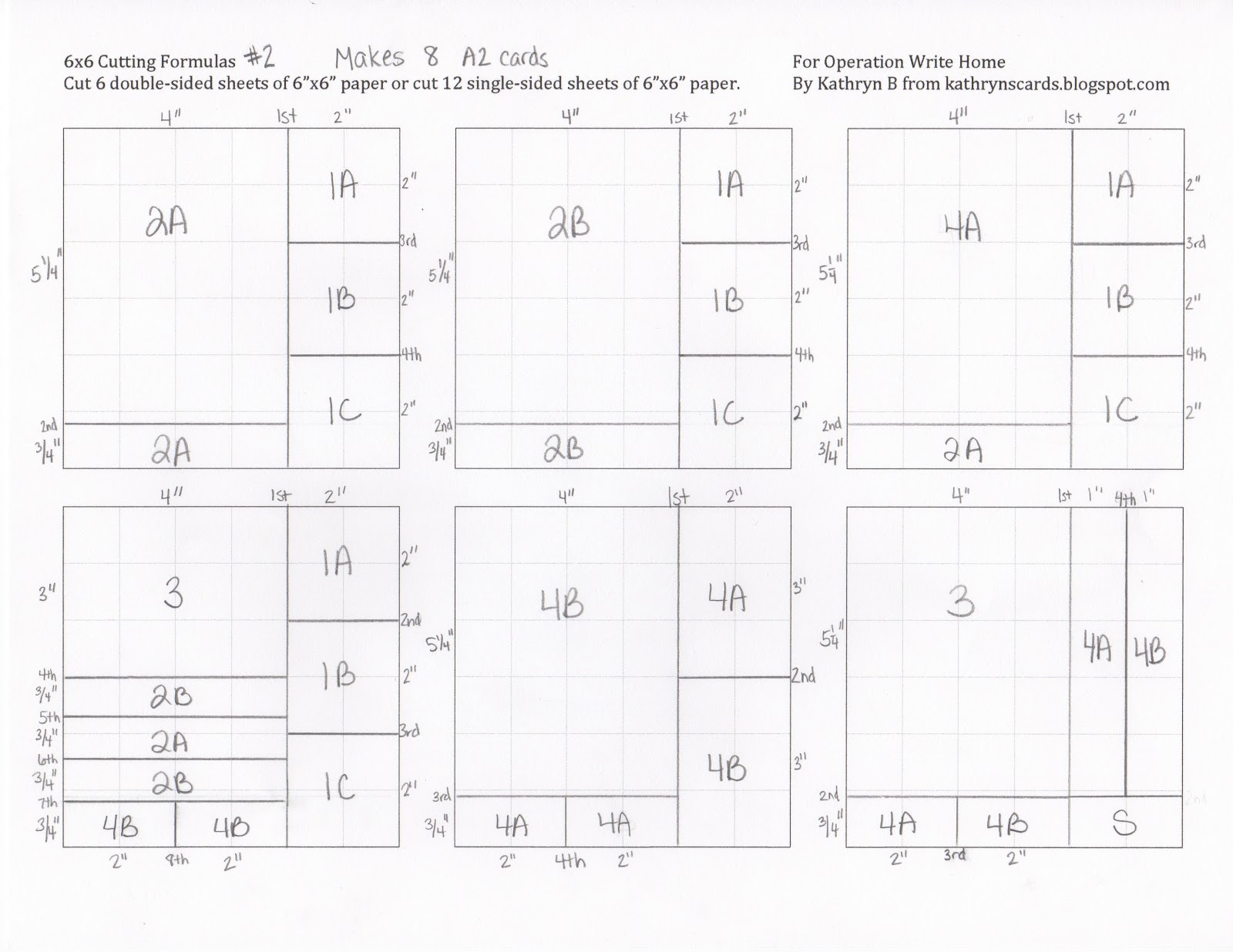 Kathryn 39 s cards 6x6 cutting formula for Architectural drawing paper sizes