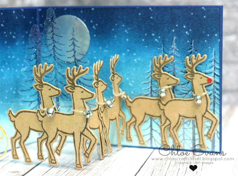 Флеш открытка олени