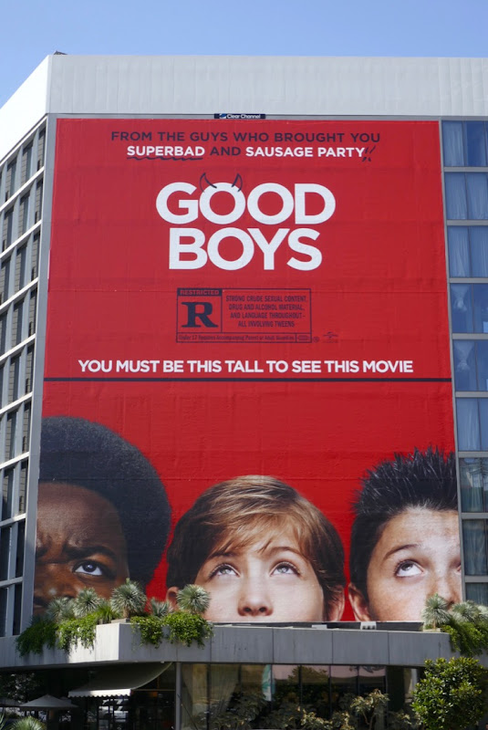 Giant Good Boys film billboard