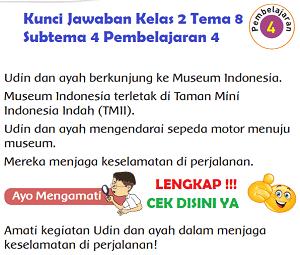Kunci Jawaban Kelas 2 Tema 8 Subtema 4 Pembelajaran 4 www.simplenews.me