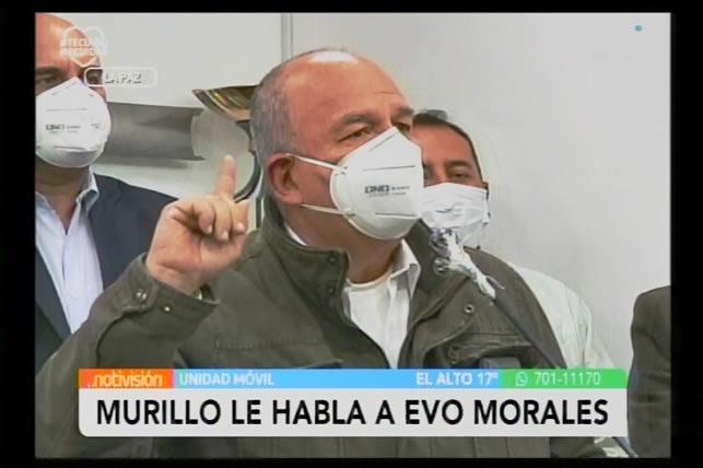 VIDEO Murillo a Evo Morales: Deje de mandar a la muerte a su gente, deje de hacer terrorismo en Bolivia