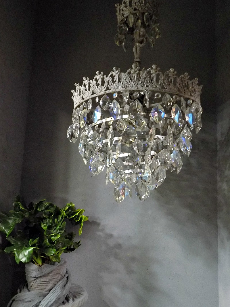 Antique chandelier makeover