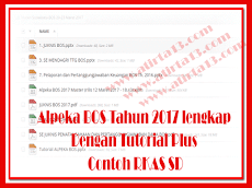 Alpeka BOS Tahun 2017 lengkap Dengan Tutorial Plus Contoh RKAS SD
