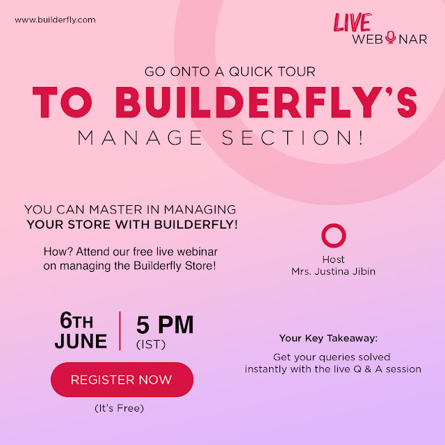 Builderfly – A Complete Ecommerce Solution is conducting its Third Consecutive Webinar - 5 June 2020 - Blog - Personal site