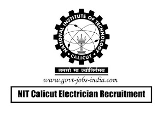 NIT Calicut Electrician Recruitment 2020
