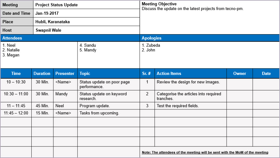 meeting minutes template, meeting minutes PPT