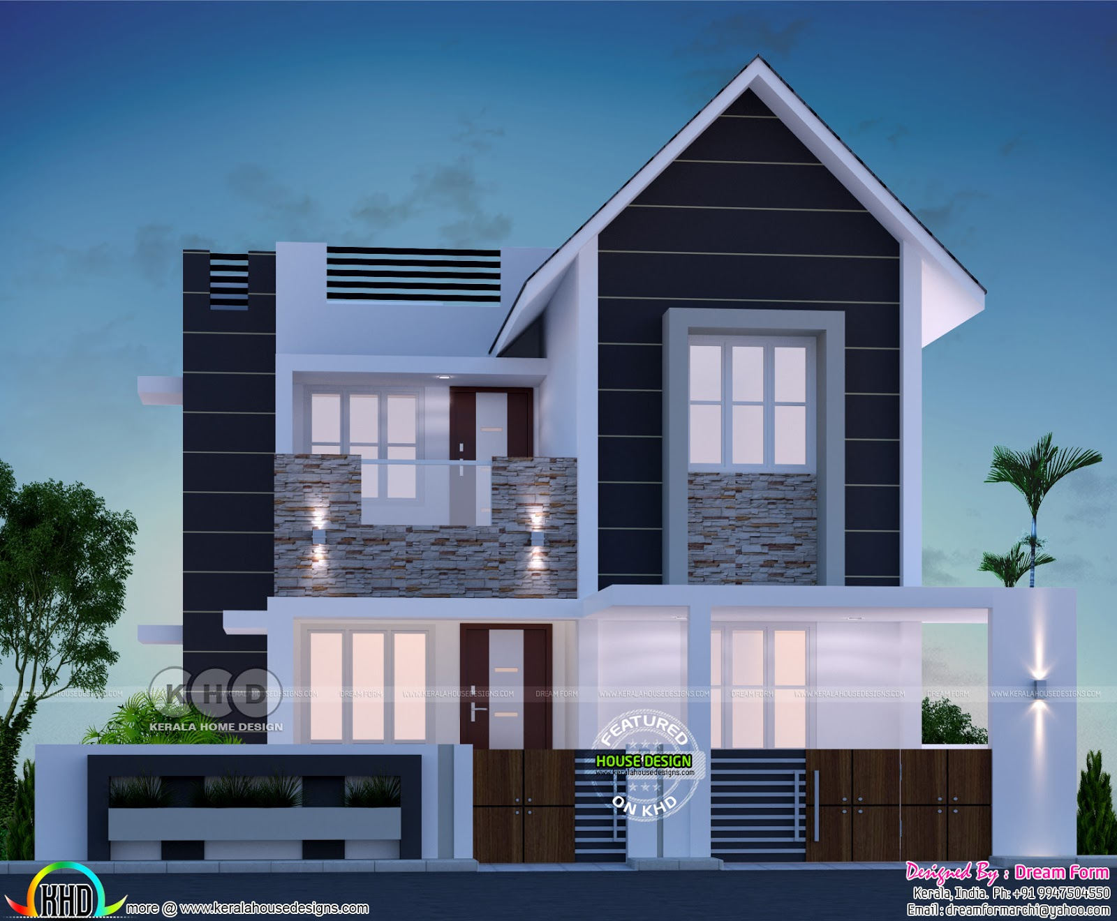 3 bedroom modern style beautiful kerala home 1400 sq ft