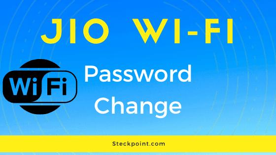 Mobile se jio wi fi ka password kaise change kare