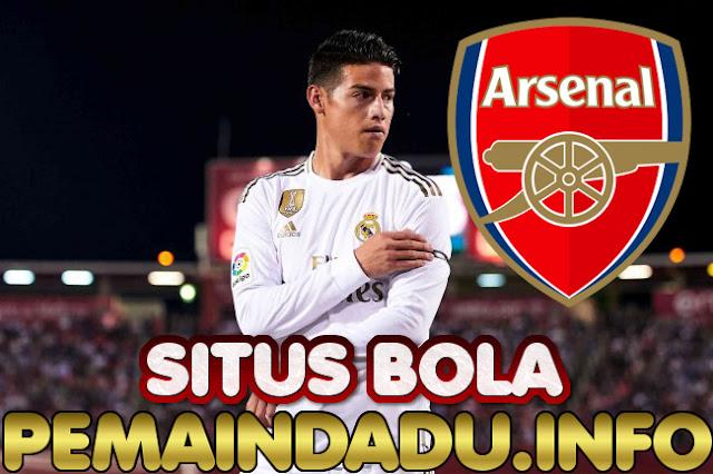 Klub Arsenal Serius Ingin Boyong James Rodriguez Dari Madrid
