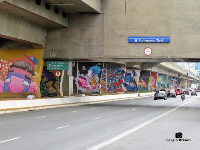 Vista de trecho do Museu Aberto de Arte Urbana de São Paulo (MAAU) - Santana - São Paulo