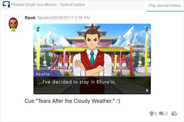 Phoenix Wright Ace Attorney Spirit of Justice Apollo decided to stay in Khura'in