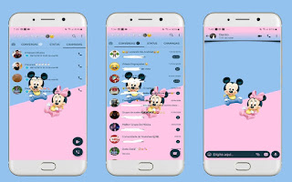Mickey & Minnie Theme For YOWhatsApp & Fouad WhatsApp By Leidiane