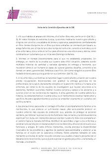 Nota de la Comisión Ejecutiva de la Conferencia Episcopal Española