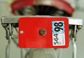 Chapa de identificación obligatoria para bicis suizas