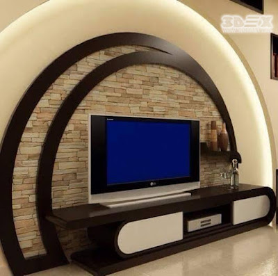 gypsum board designs for TV wall in living rooms