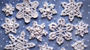Copos de nieve: apliques para decorar en Navidad