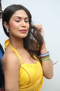 Nishigandha in Yellow backless Strapless Choli and Half Saree Spicy Pics 088.JPG