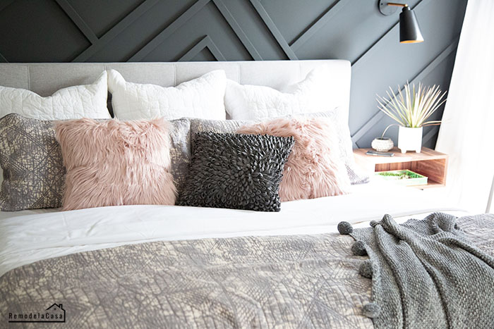 Home depot linens - throw pillows, comforter, bed