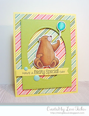 Have a Beary Special Day card-designed by Lori Tecler/Inking Aloud-stamps and dies from My Favorite Things