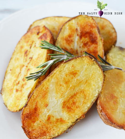 Oven Roasted Large Melting Potatoes #potatoes #roasted #vegetarian #food #easy