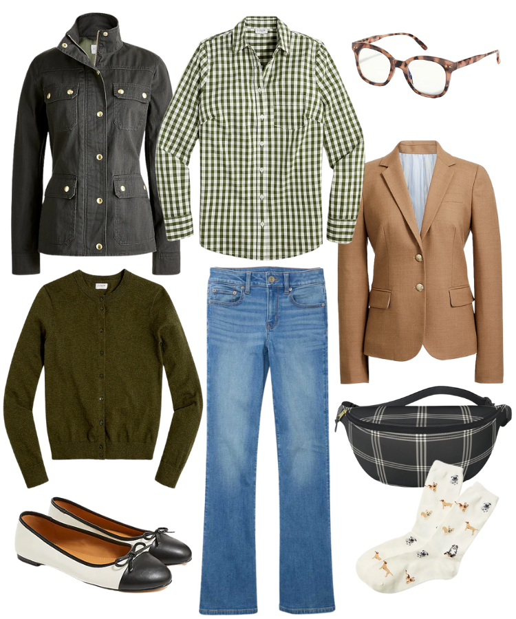 classic fall outfit, preppy fall outfit, fall fashion for women over 40