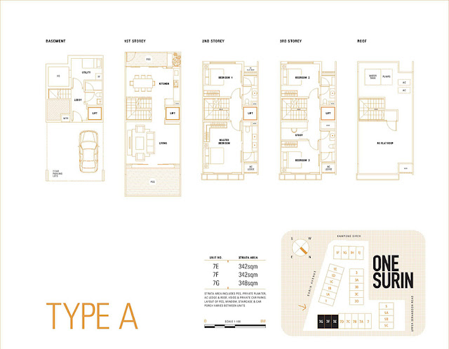One Surin Type A Floor Plan