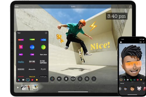 Apple Clips supports vertical videos