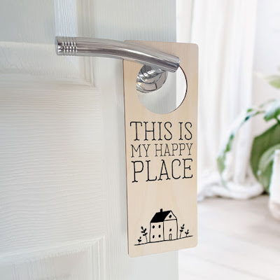 Personalised Door Hanger Wooden