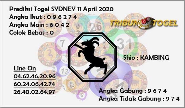 Prediksi Sydney Sabtu 11 April 2020 - Prediksi Tribun Togel