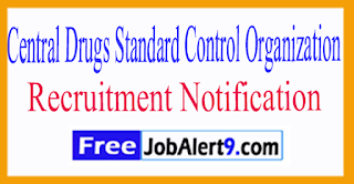 CDSCO Central Drugs Standard Control Organization Recruitment Notification2017 Last Date 22-07-2017