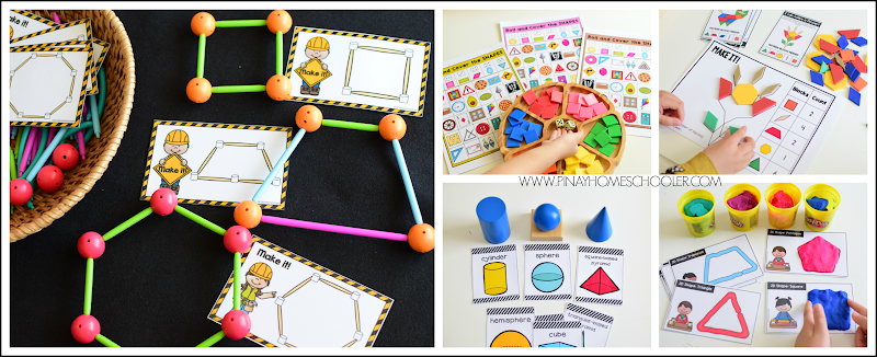 Kindergarten Math: Shapes Activity Centers