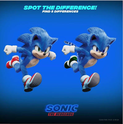 sonic the hedgehog movie activity sheets spot the difference with 2 running sonic the hedgehog characters