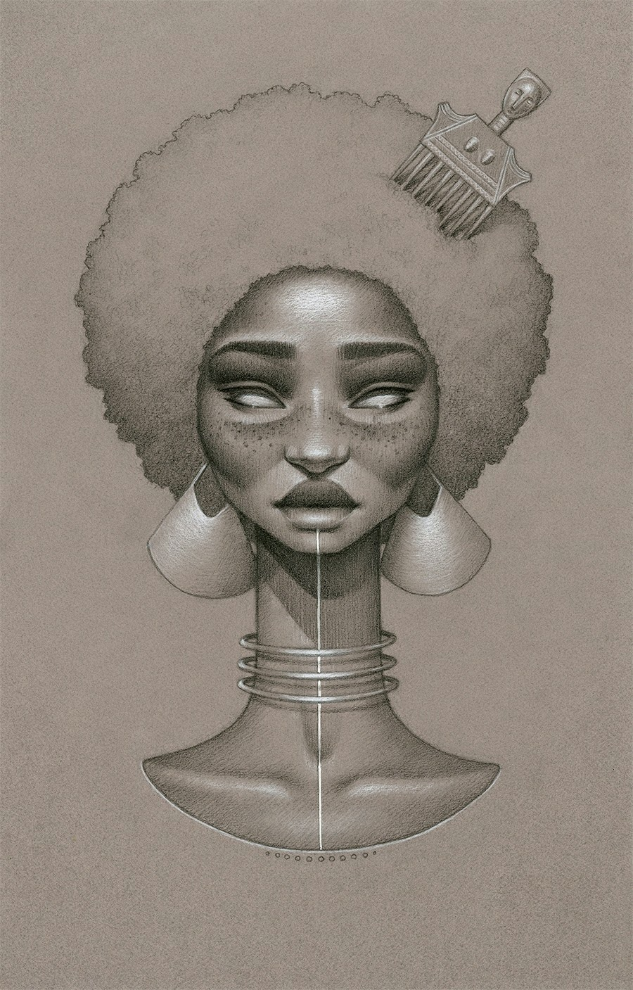 This is a photo of Magic Afro Woman Drawing