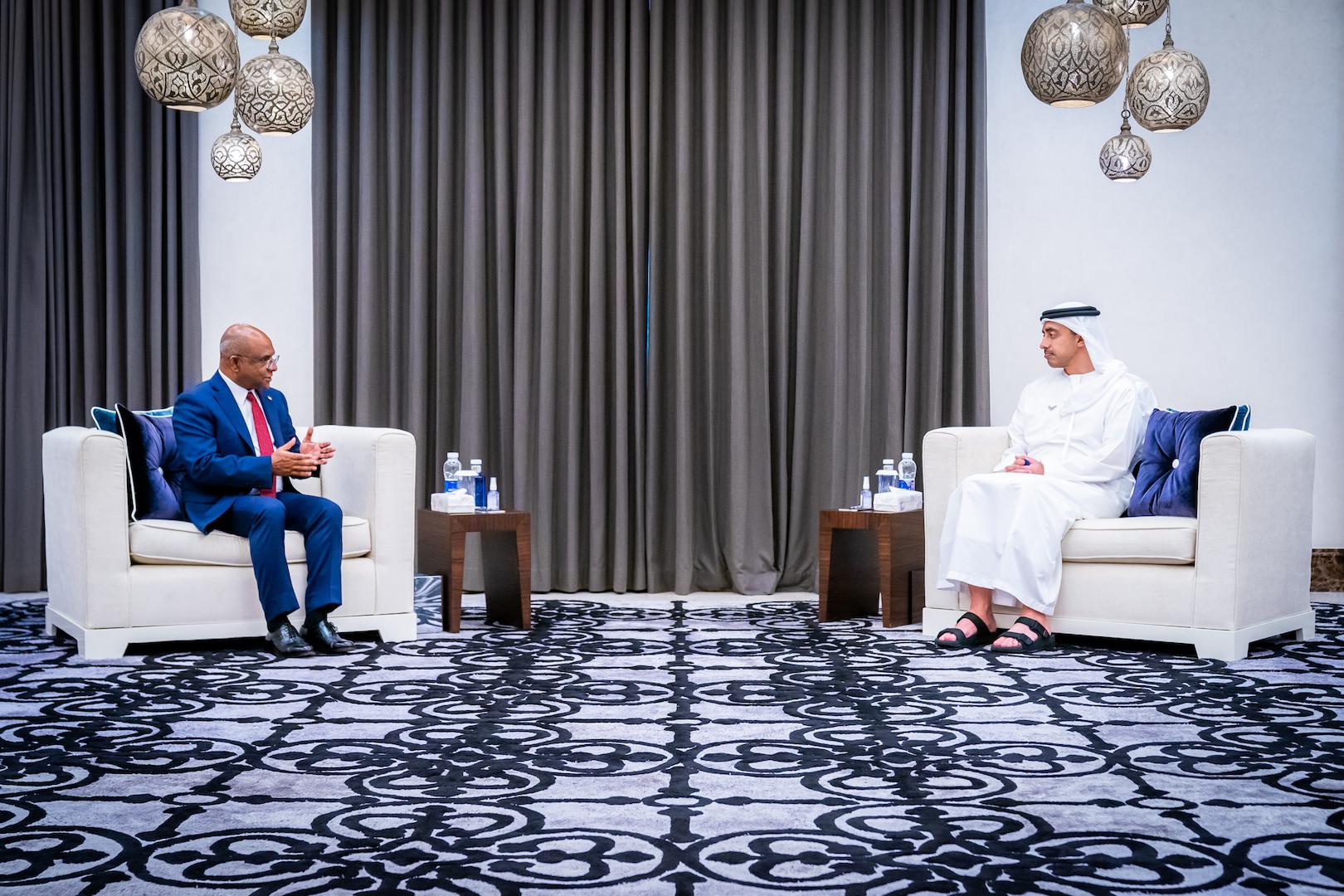 Sheikh Abdullah bin Zayed meets Maldives FM